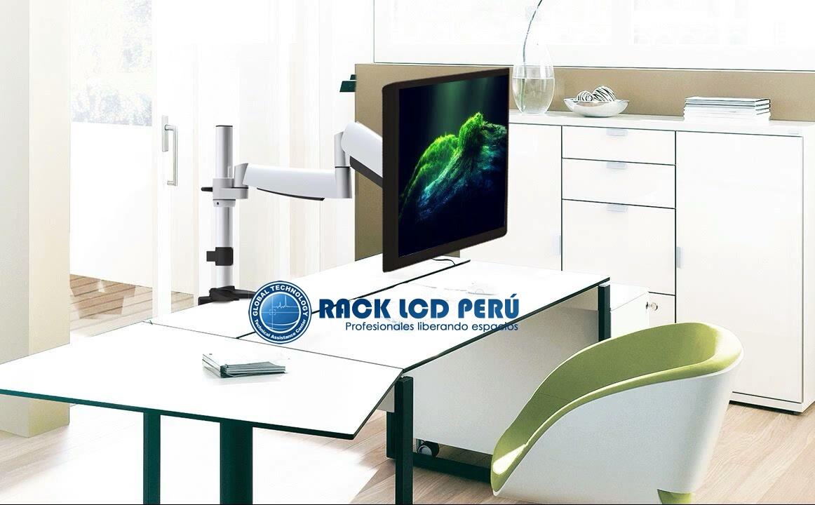 Rack ergonomico de escritorio para monitor de pcrack para tv for Escritorio ergonomico